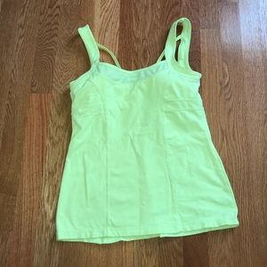 Yellow work out top